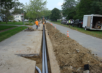 Aucoin Telecom and Utility Construction delivers underground conduit and manhole installs