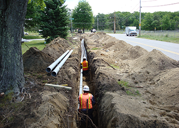 UG Conduit and Manhole Installs by Aucoin Telecom & Utility Construction
